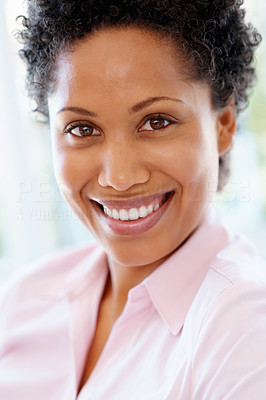 Buy stock photo Closeup of woman smiling