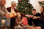 Family moments at Christmastime