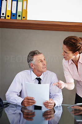 Discussing financial matters
