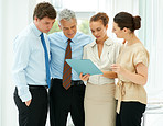 Successful business team busy on a conversation