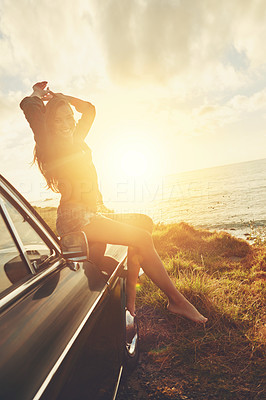 There\'s nothing quite like a roadtrip at sunset