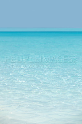 Buy stock photo Image of a beautiful sea and clear blue sky - Horizon