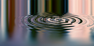Buy stock photo Smoothly Animated Waves in water with colourful reflection