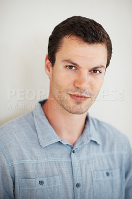 Buy stock photo Portrait of young handsome man