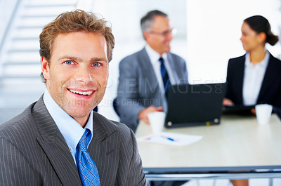 Buy stock photo Mature businessman smiling