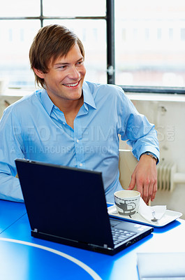 Buy stock photo A young, confident business man.