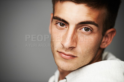 Buy stock photo Portrait of a good looking man
