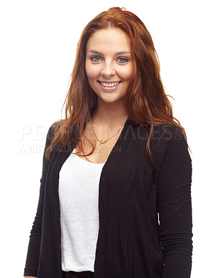 Buy stock photo Portrait of a redhead