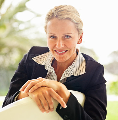 Buy stock photo Portrait of a confident middle age business woman , smiling