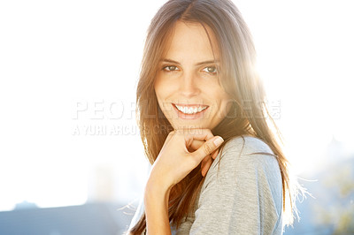 Buy stock photo Portrait of an attractive young female model