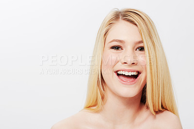 Buy stock photo Studio portrait of a natural blonde beauty