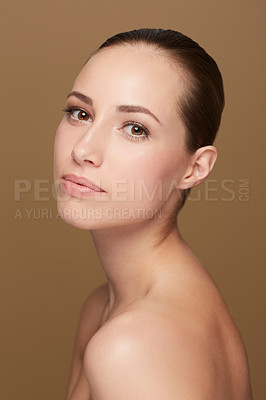 Buy stock photo Portrait of a beautiful woman