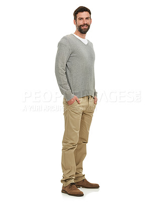 Buy stock photo A young man wearing casual wear - isolated