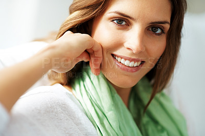 Buy stock photo Portrait of a beautiful young lady posing