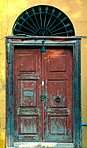 An old rustic door