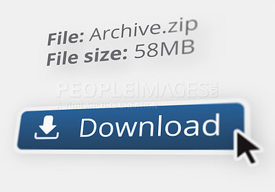 Buy stock photo Shot of an internet file download - ALL design on this image is created from scratch by Yuri Arcurs'  team of professionals for this particular photo shoot