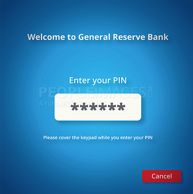 Buy stock photo Shot of an internet banking login page - ALL design on this image is created from scratch by Yuri Arcurs'  team of professionals for this particular photo shoot