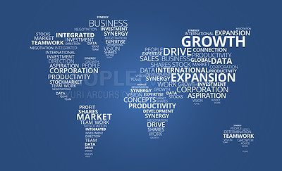 Buy stock photo A digital image of a globe illustrating business concepts in a global context