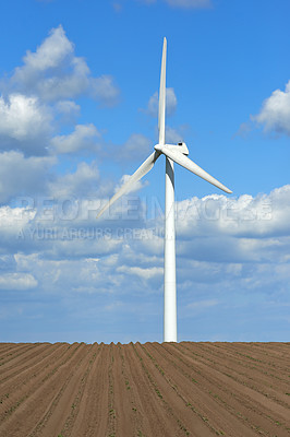 Buy stock photo Wind turbines located in Denmark