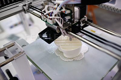 Buy stock photo Shot of a 3d printer