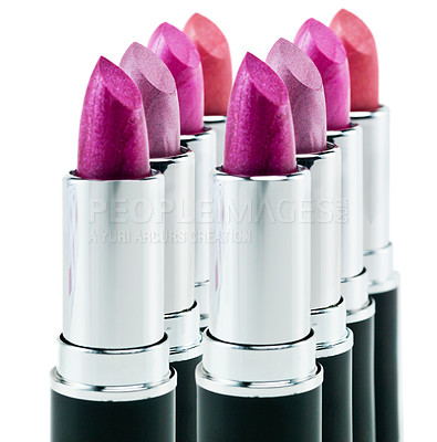 Buy stock photo Studio shot of colorful lipstick