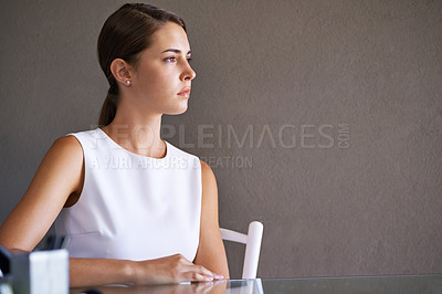 Buy stock photo Gorgeous businesswoman sitting at her desk