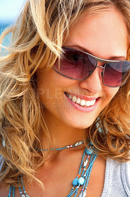 Buy stock photo Fashion shot on the beach