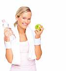 Healthy lifestyle - Healthy young blond woman smiling
