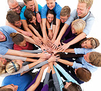 Unity - People putting hands together