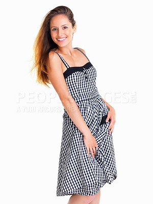 Buy stock photo Woman posing in a dress