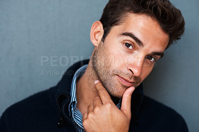 Buy stock photo Studio portrait of a handsome young man