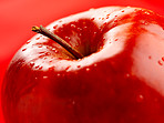 Isolated red apple
