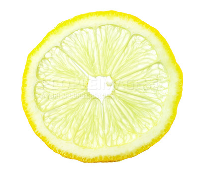 Buy stock photo Macro shot of a slice of lemon