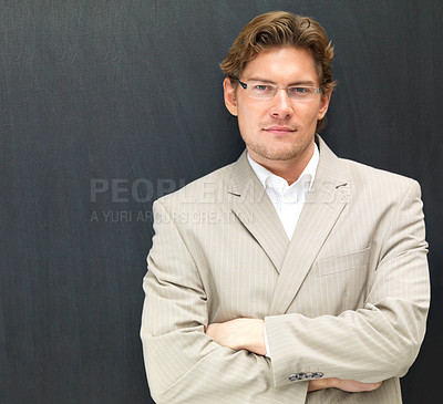 Buy stock photo Portrait of a confident businessman