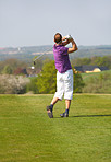 Golf Swing by a young man