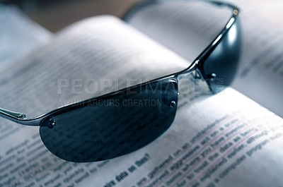 Buy stock photo Sunglasses reflecting the light
