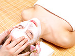 Facial massage at beauty spa