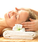 Day spa massaging and relaxation
