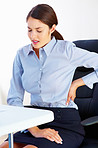 Business woman having backache