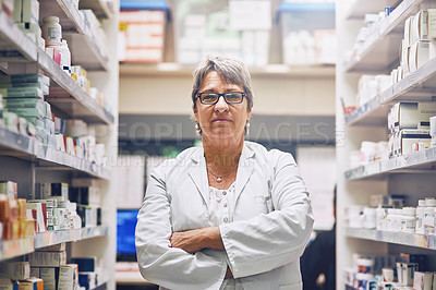 Buy stock photo Shot of a pharmacist at work