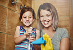 Tackling chores as a mother and daughter team
