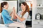 Clapping game fun for daughter and Mum