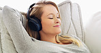 She is in her comfort zone listening to music