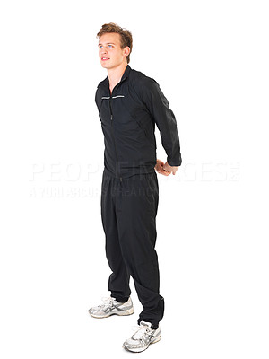 Buy stock photo Young athletic man working out.