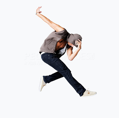 Modern dance - Young male performing a dance move