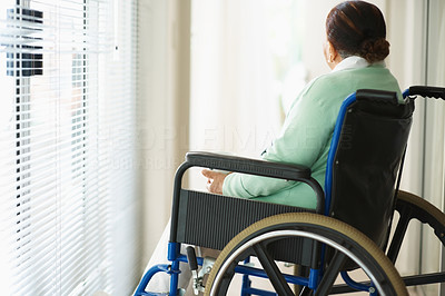 Rear view of a patient on a wheel chair