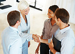 Business agreement - Businesspeople shaking hand with eachother