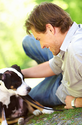Buy stock photo A mans best friend