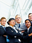 Multi-ethnic business group