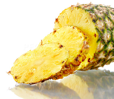 Buy stock photo Closeup shot of an isolated pineapple